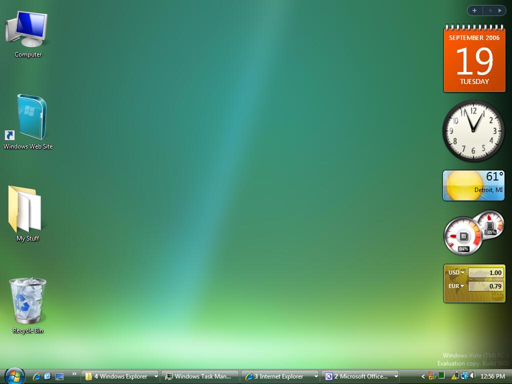 Default Windows Vista Desktop My vista default desktopWindows Vista Default Desktop