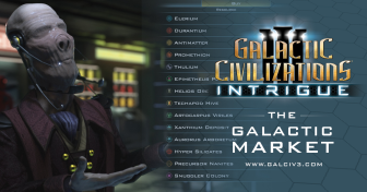 GalCiv III: Intrigue Journal #3: The Galactic Market