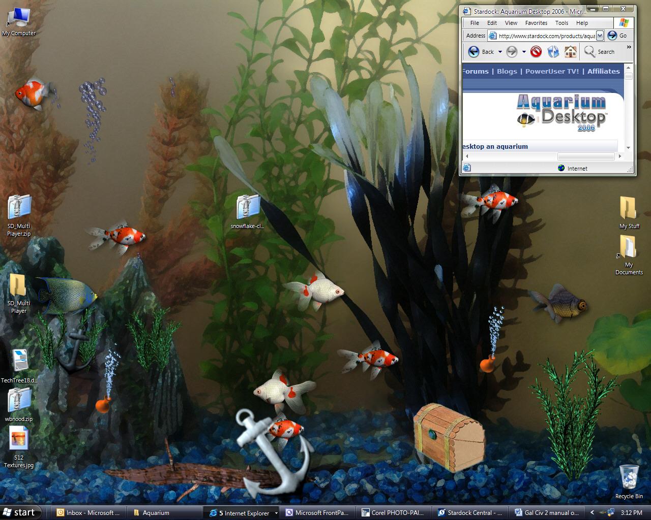Aquarium Desktop FULL & 3 Fish Pack very beautiful +key .rar