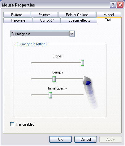 configure cursorxp