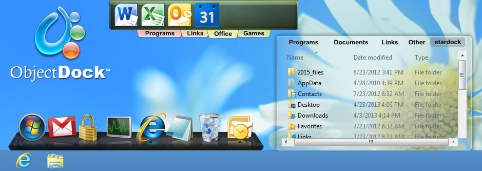 ObjectDock теперь официально поддерживает Windows 8.