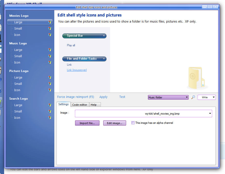 Windows XP Specific Elements