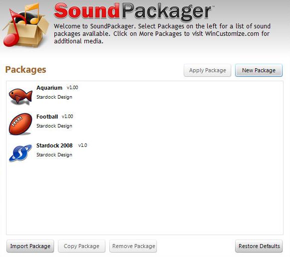 Full SoundPackager screenshot