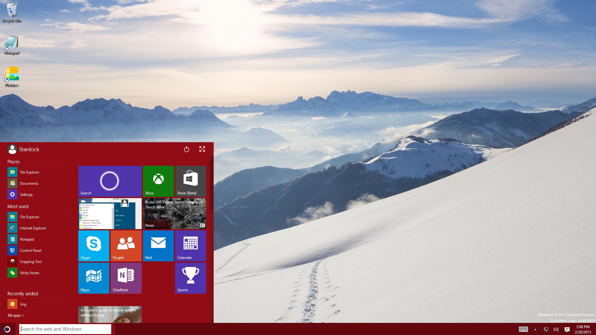 how to alter start menu windows 10