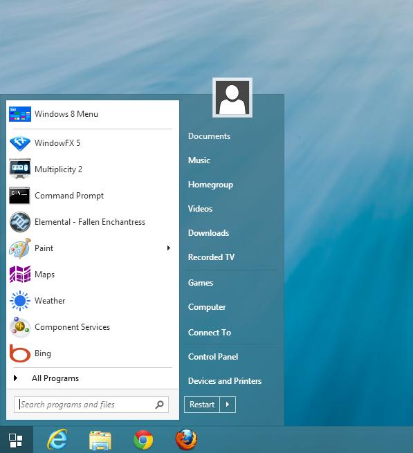 The Windows 8 Start me...