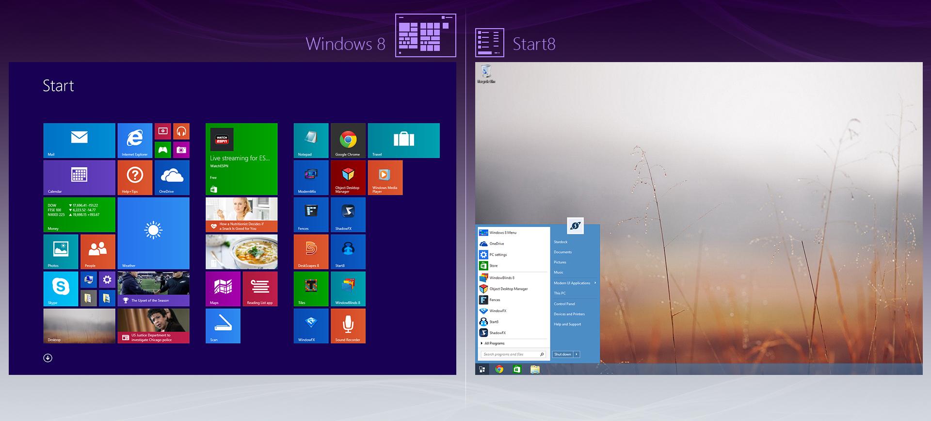 Full Start8 screenshot
