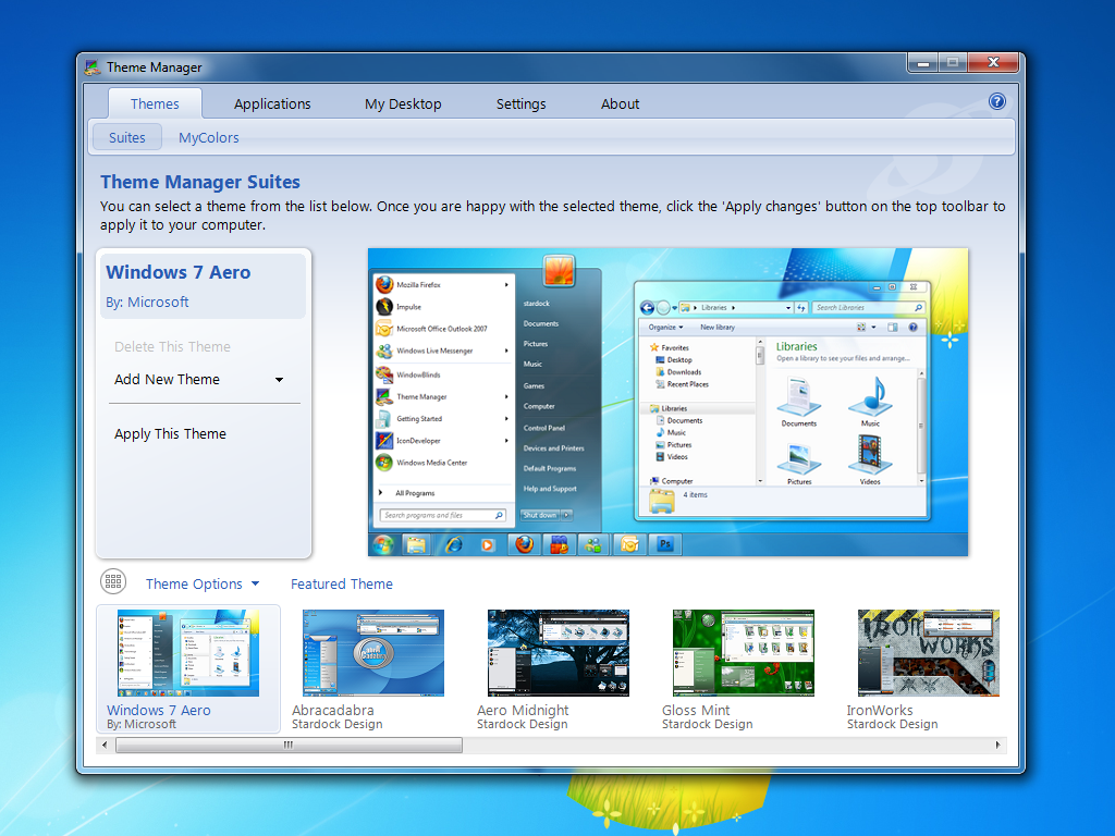 theme manager manage windows themes
