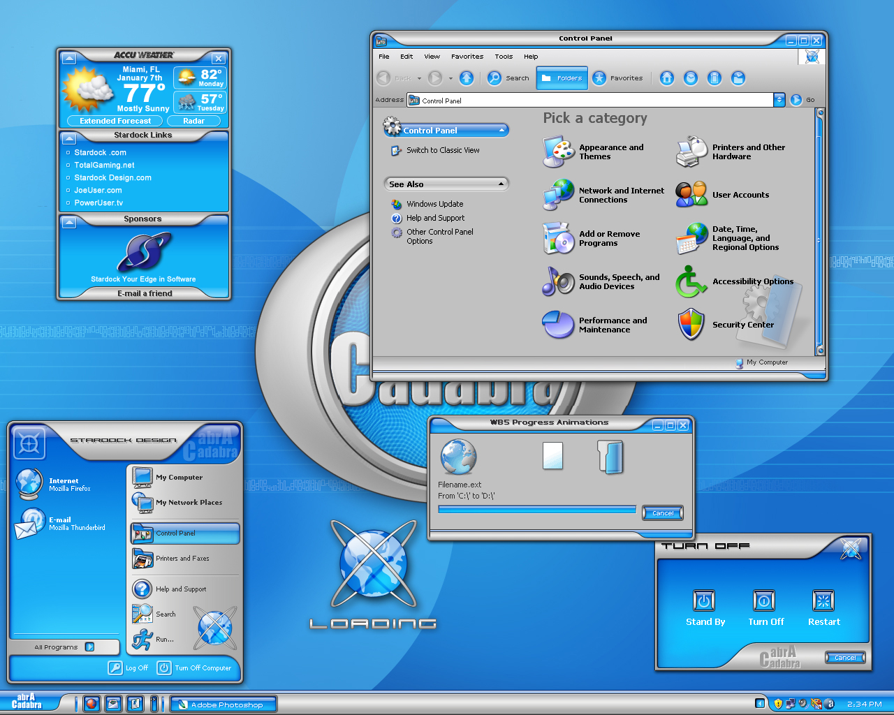 Premium themes: software from stardock corporation.
