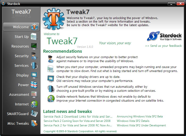 Windows 7 Tweak7 2.0.1 full