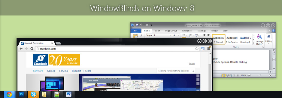 WindowBlinds 8 released
