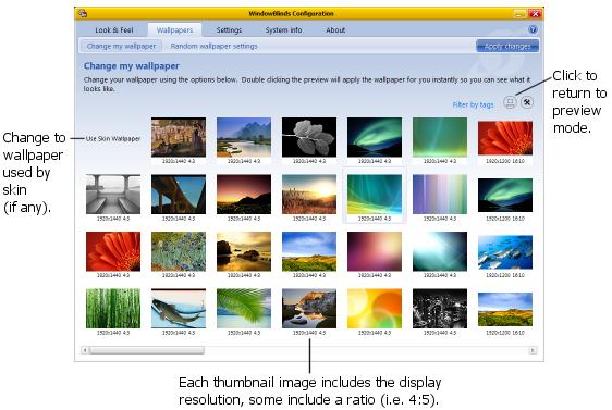 Grid View - view multiple thumbnails.