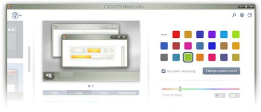 WindowBlinds 8 UI