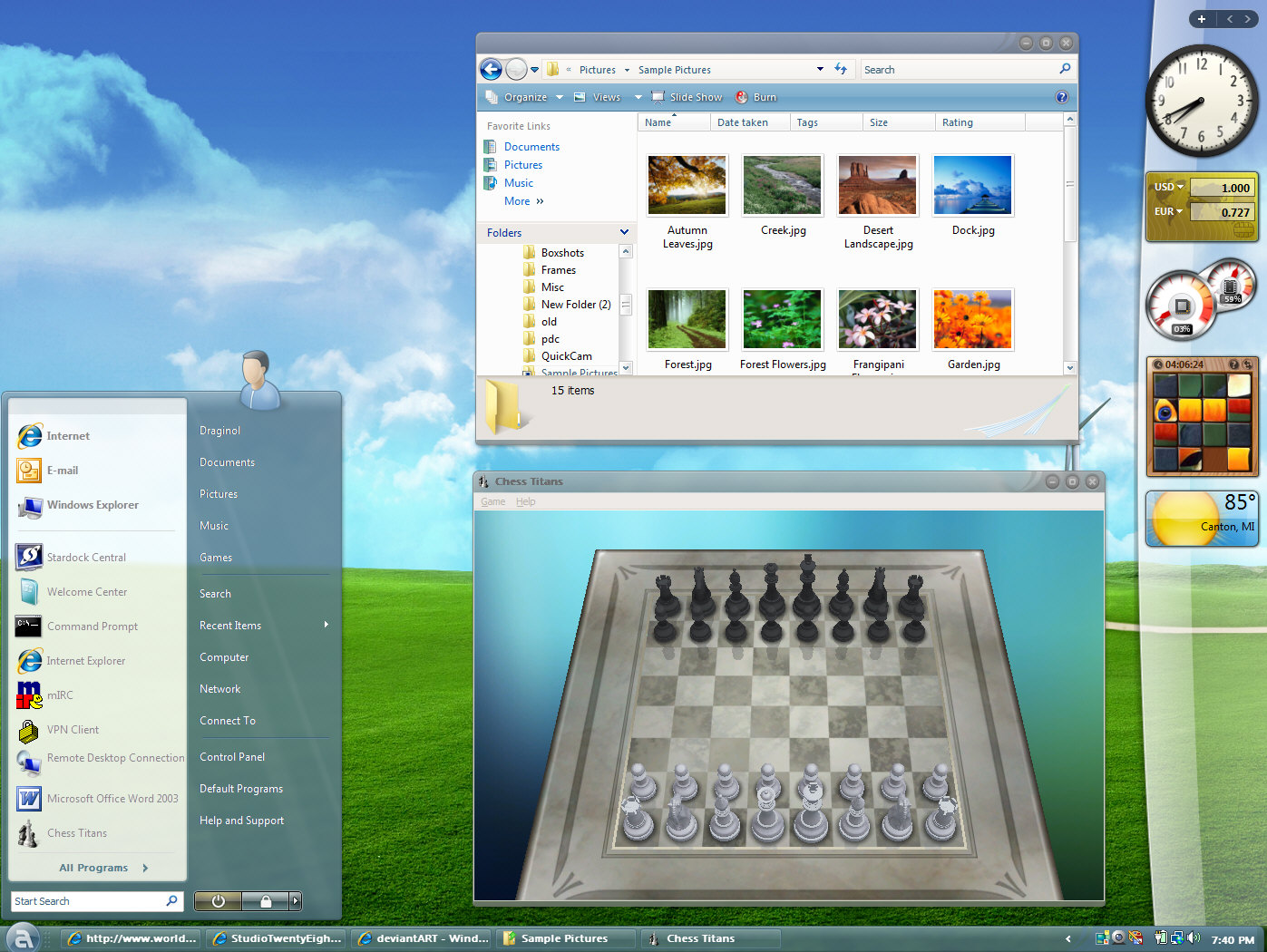 Customize the look and feel of Windows XP or Vista with WindowBlinds.