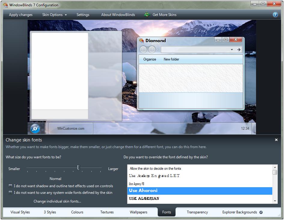 Скриншот Windows Blinds