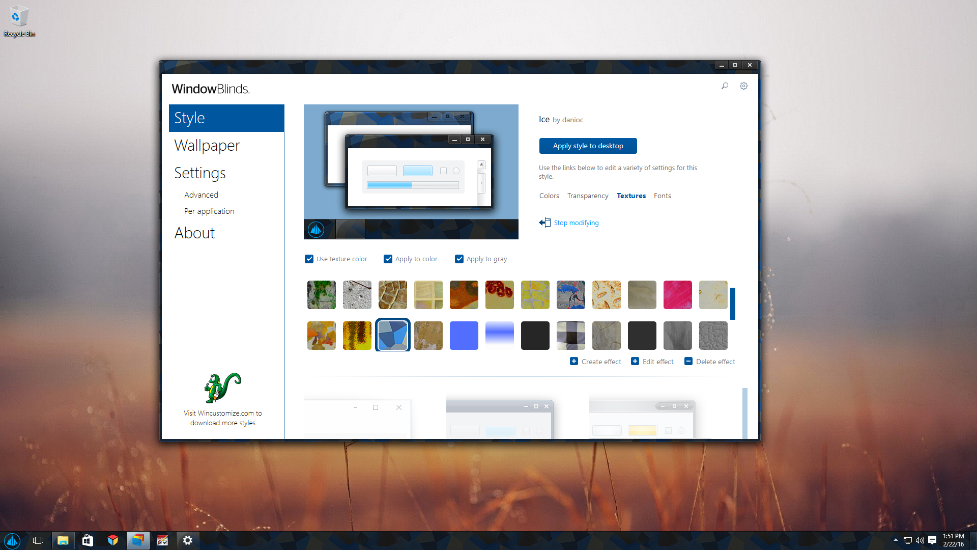 Windowblinds software from stardock for New windows software